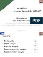 SAP2000 Nonlinear Dynamic Analysis