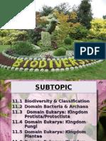 Biodiversity (Semester 2 Matriculation)