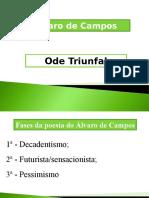 Alvaro de Campos e Analise Da Ode Triunfal