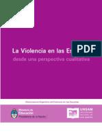 Violencia en Las Escuelas Analisis Cualitativo