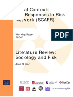 Zinn, J. O. Literature Review..Sociology and Risk.pdf