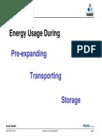Energy Consumption Preexpanding