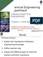 Chapter 1 Mole Balances Part 2
