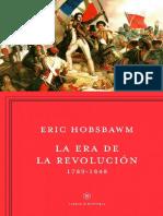 Eric Hobsbawm La Era de Las Revoluciones 1789 1848