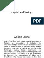 Capital and Saving