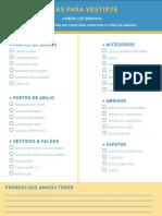 Imprimible Basicos de Armario - Ideas Para Vestirte