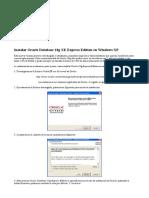 Instalar Oracle Database 10g XE Express Edition en Windows XP