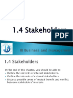 1.4 Stakeholders