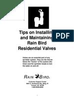 Rain Bird Valve Install Tips