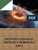 dasar-dasar geografi
