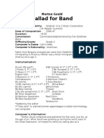 Gould - Ballad for Band Info