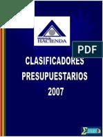 Clasificadores  2007