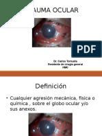 Traumatism o Ocular 1