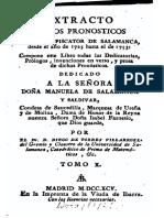 Torres Villarroel Extracto de Los Pronosticos Del Gran Piscator de Salamanca 1