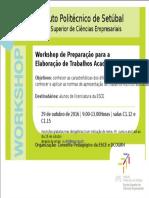 WORKSHOP - Trabalhos Académicos