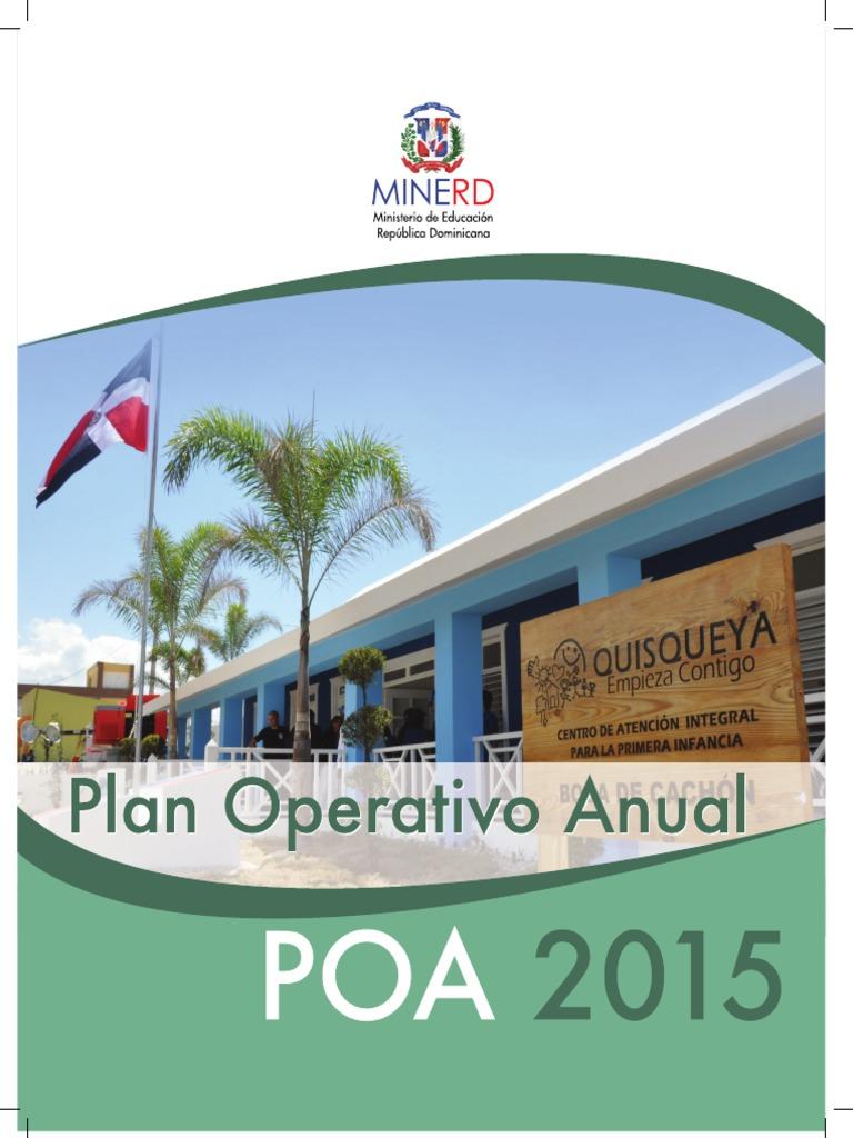Plan Operativo Anual 2015 152fe5d6e0d