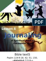 JOURNALING- A Spiritual Path to Encounter God.