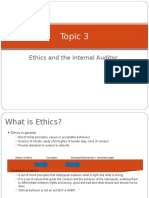 TOPIC 3 - Ethics & Internal Auditor