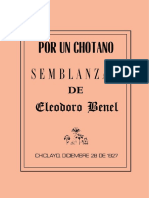 Semblanzas de Eleodoro Benel