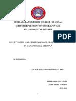 OPPORTUNITIES AND CHALLENGES OF RURAL LIVELIHOODS IN DANDI WOREDA, ETHIOPIA