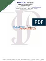 Note de Présentation Imafog Partners 2016