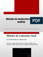 Métodos de Evaluación Visual y Auditiva