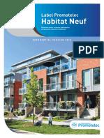 Referentiel Label Habitat Neuf Promotelec 2015