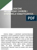 Psychologiczne Mechanizmy Chorób i Dysfunkcji Somatycznych