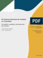 El Sistema Nacional de Calidad en Colombia Un Analisis Cualitativo Del Desarrollo Del Sistema