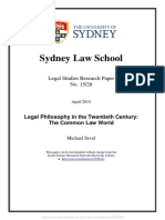 Legal Philosophy in the twentieth century