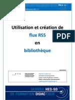 Utilisation et création de flux RSS en bibliothèque