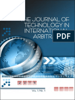 The journal of technology in international arbitration. Patricia Shaughnessy