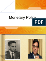 Monetary Policy of RBI