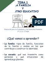 TEMA 1 La Familia y El Centro Educativo