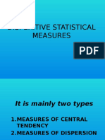 Disperitive Statistical Measures