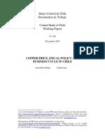 Copper Price, Fiscal Policy in Chile