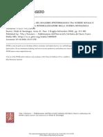 La Persistente Attualità Del Dualismo Epistemologico Tra Scienze Sociali e
