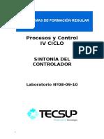 Guia de Laboratorio - Sintonia Del Controlador - Procesos y Control
