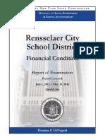 Rensselaer City School District audit report