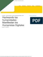 Hackeando Las Humanidades