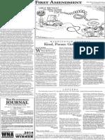 The Platteville Journal Editorial Ward entry (Etc.)