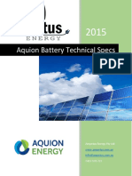 Aquion Battery Technical Specs