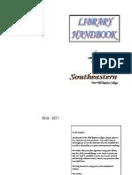 Library Handbook 2016 2017