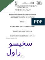 Inv 4.1.3 y 4.1.4-Gestion de Proyectos de Software-unidad 4