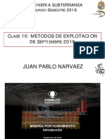 IMM 2043 Mineria Subterranea UC 2-2016 Clase 10