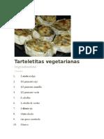 Tarteletitas vegetarianas