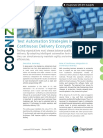 Test Automation Strategies in a Continuous Delivery Ecosystem