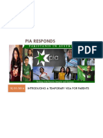 PIA Response to Discussion Paper on Long Term Visa for Parents 311016