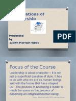 Foundations of Leadership1