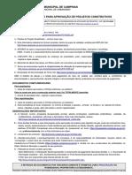 Documentos Para Aprovação Projetos